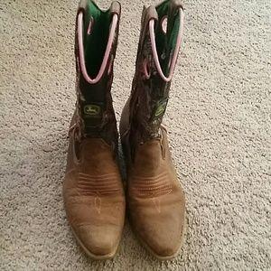 Girls John deere boots